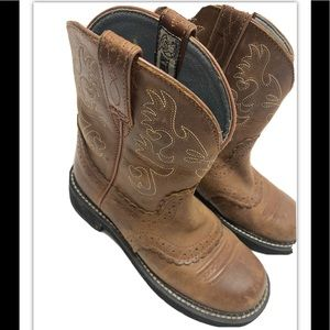 Ariat womens brown fatbaby cowboy boots 6.5